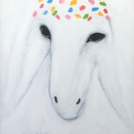 White Sheep by MENASHE KADISHMAN [1990]