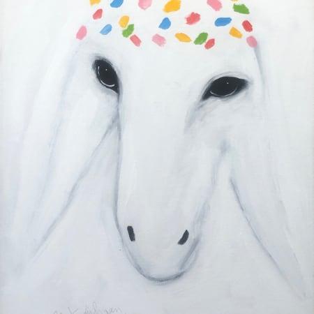 White Sheep by MENASHE KADISHMAN [1990]
