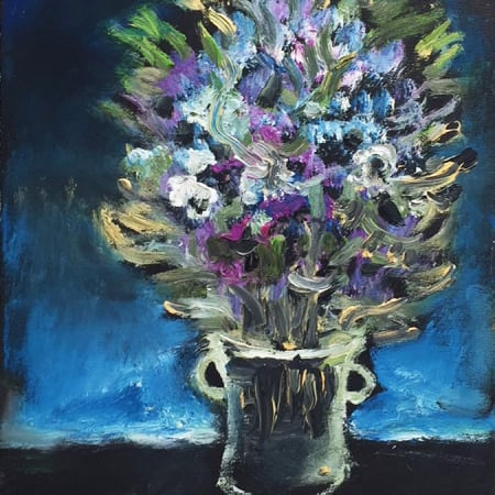 Blue bouquet by Yosl Bergner [2015]