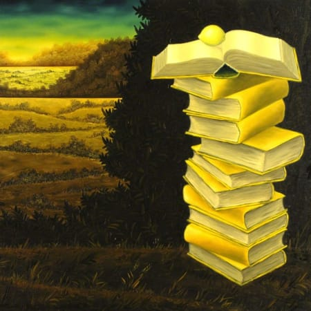 Books and lemon by MEIR PICHHADZE  [1990]