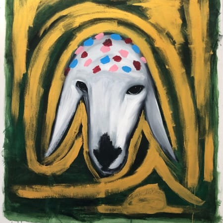 Golden Sheep by MENASHE KADISHMAN [1980]
