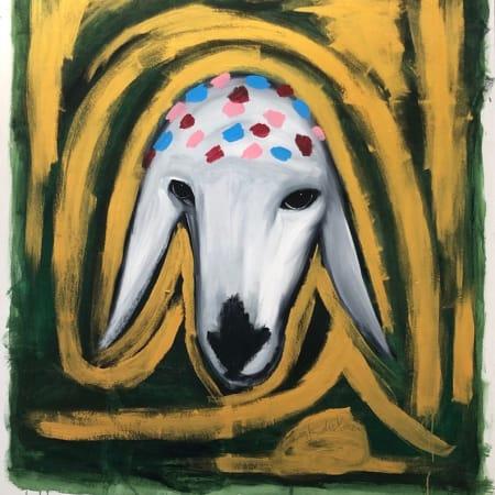 Golden Sheep by MENASHE KADISHMAN [1980]