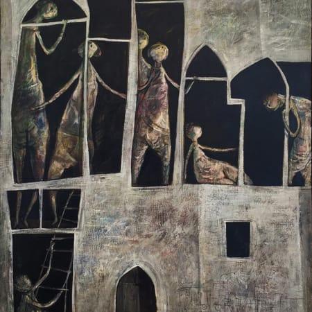 Jaffa Hotel by Yosl Bergner [1956]