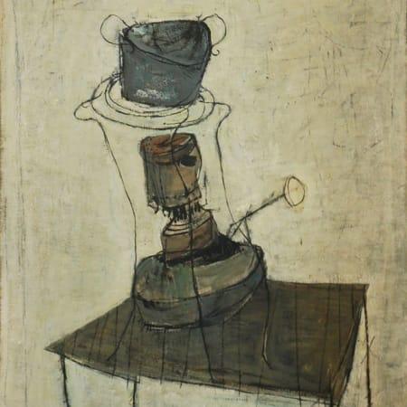 Kerosene Stove  by Yosl Bergner [1958]