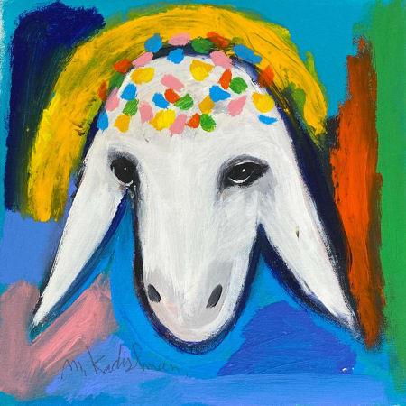 Rainbow Sheep by MENASHE KADISHMAN [1990]