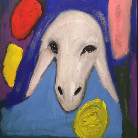 Sand sheep by MENASHE KADISHMAN [1990]