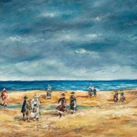 Tel Aviv Beach by Yosl Bergner [1985]