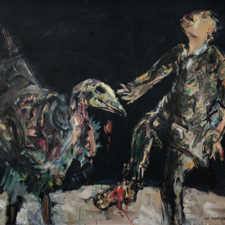 The Vulture - Paintings for Franz Kafka by Yosl Bergner [1989]