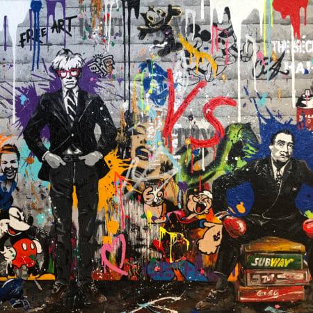 Warhol & Dali  by Yuvi [2017]