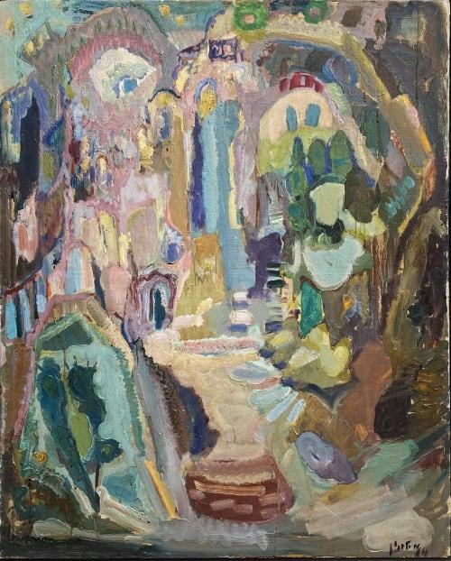 Zefat by MORDECHAI LEVANON [1960]