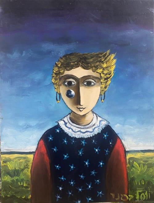 Teardrop Girl by Yosl Bergner [1998]