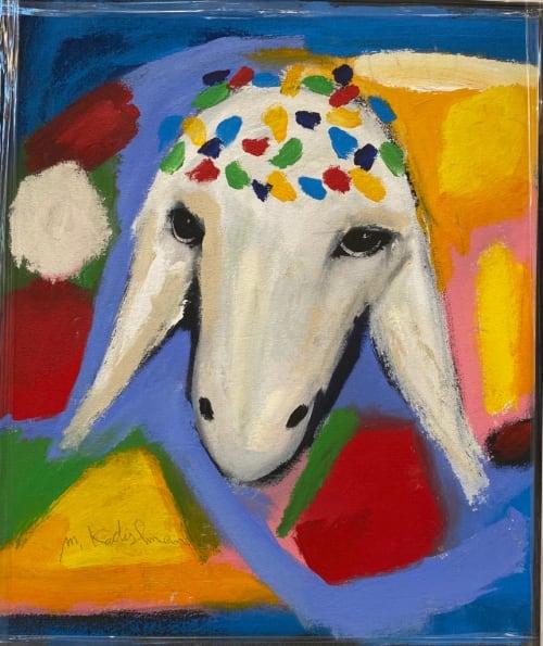 White Blue Sheep by MENASHE KADISHMAN [2000]