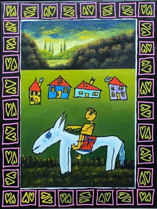 Blue Donkey by MEIR PICHHADZE  [2000]