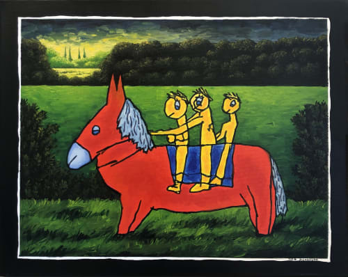 Red Donkey by MEIR PICHHADZE  [1999]