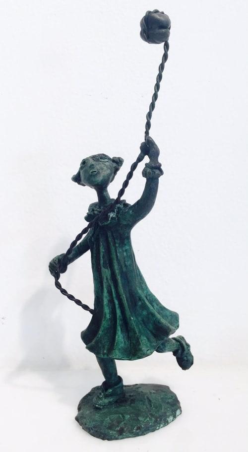 Girl with stone kite  by Yosl Bergner [2012]