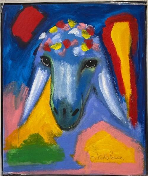 Blue Yellow Sheep by MENASHE KADISHMAN [2000]