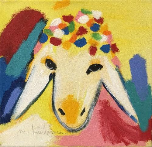 Small Yellow Sheep by MENASHE KADISHMAN [2000]
