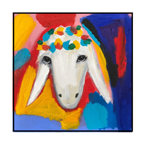 Birthday Sheep by MENASHE KADISHMAN [2000]