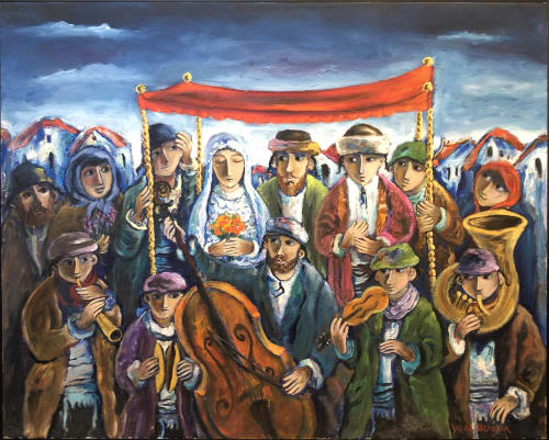 Jewish Wedding by Yosl Bergner [1980]