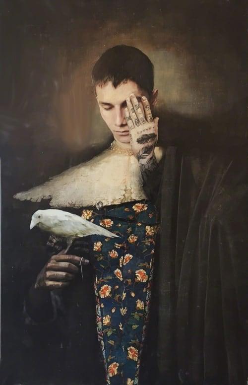 Boy and Bird by Igor Skaletsky [2014]