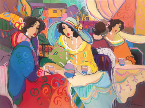 coffee Paris chat by Isaac Maimon [1990]