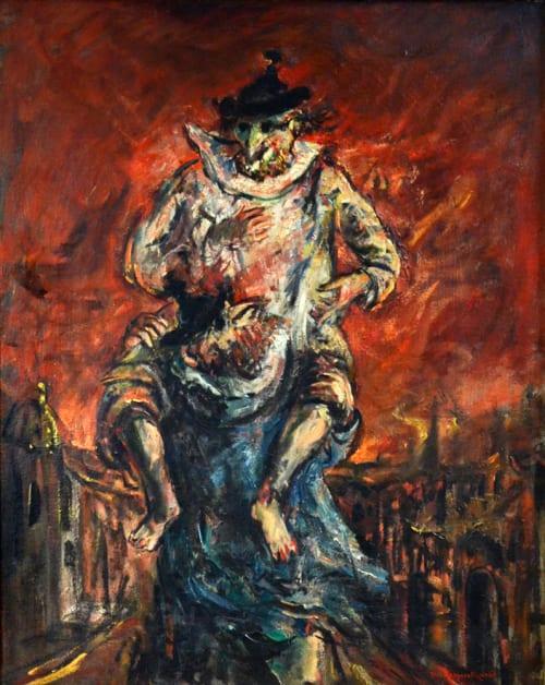 Fire in Venice by Yosl Bergner [1970]