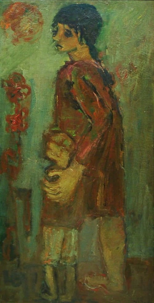 Mother and son by Moshe Mokady [1950]