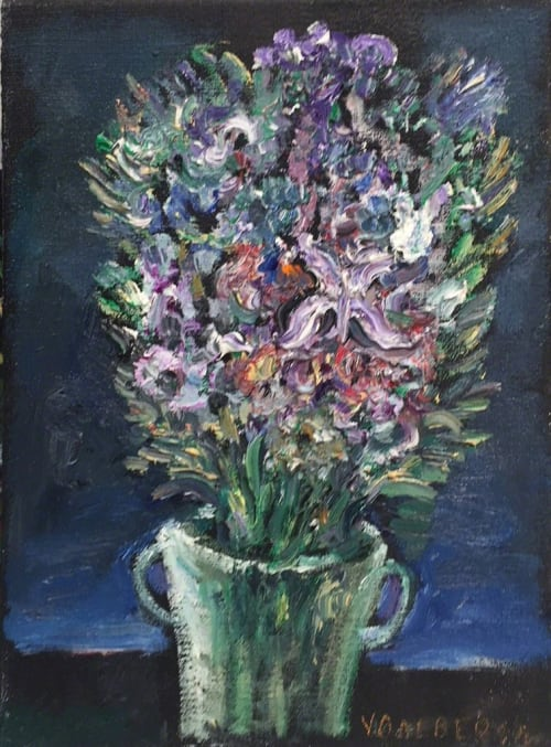 Purple Bouquet by Yosl Bergner [2011]