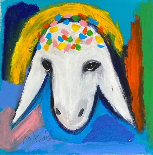 Rainbow Sheep by MENASHE KADISHMAN [1990]
