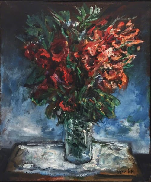 Red Bouquet by Yosl Bergner [1980]