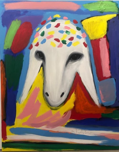 Royal Sheep by MENASHE KADISHMAN [1990]