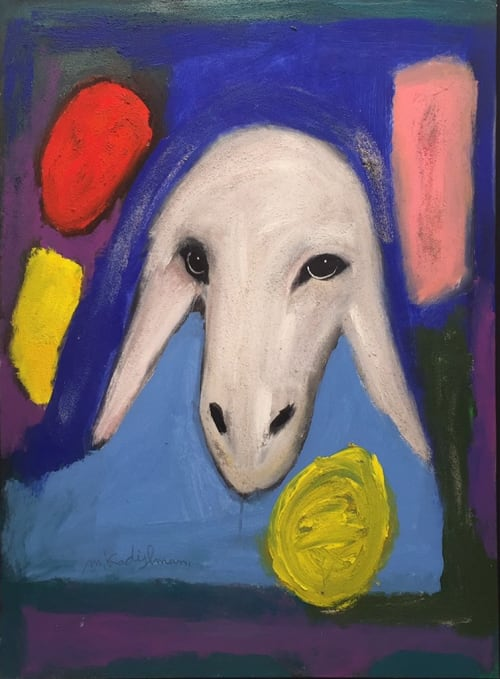 Sand sheep by MENASHE KADISHMAN [1990]