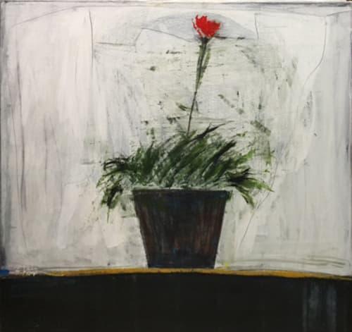 Small flower black pot by SALAH ALKARA [2012]