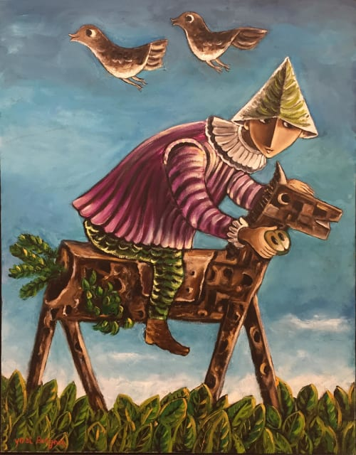 The Rider on the Wooden Horse by Yosl Bergner [1980]