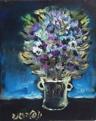 Blue bouquet by Yosl Bergner [2015]