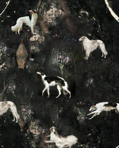 Dogs on the wall by Igor Skaletsky [2014]
