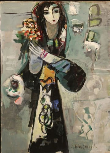 Flowers Lady by Zvi Meirovich [1980]