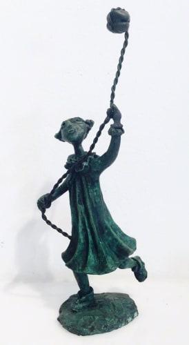 Girl with stone kite by Yosl Bergner [2013]