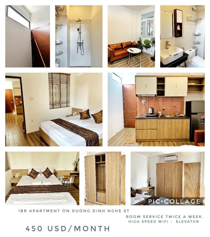 COZY MODERN STUDIO OR ONE BEDROOM APARTMENT FOR RENT ON DUONG DINH NGHE STREET   ST.A.B0068