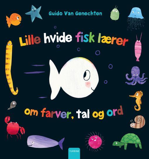 Lille hvide fisk lærer om farver, tal og ord