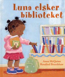 Luna elsker biblioteket