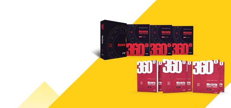 banner do ensino médio da coleção 360° História, Sociedade e Cidadania (Volume único e 3 volumes)