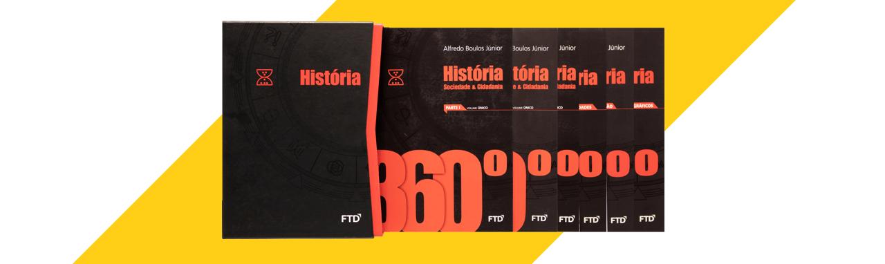 banner do ensino médio da coleção 360° História, Sociedade e Cidadania (Volume único)