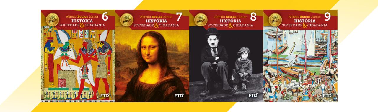 banner do ensino fundamental 2 da coleção História, Sociedade e Cidadania