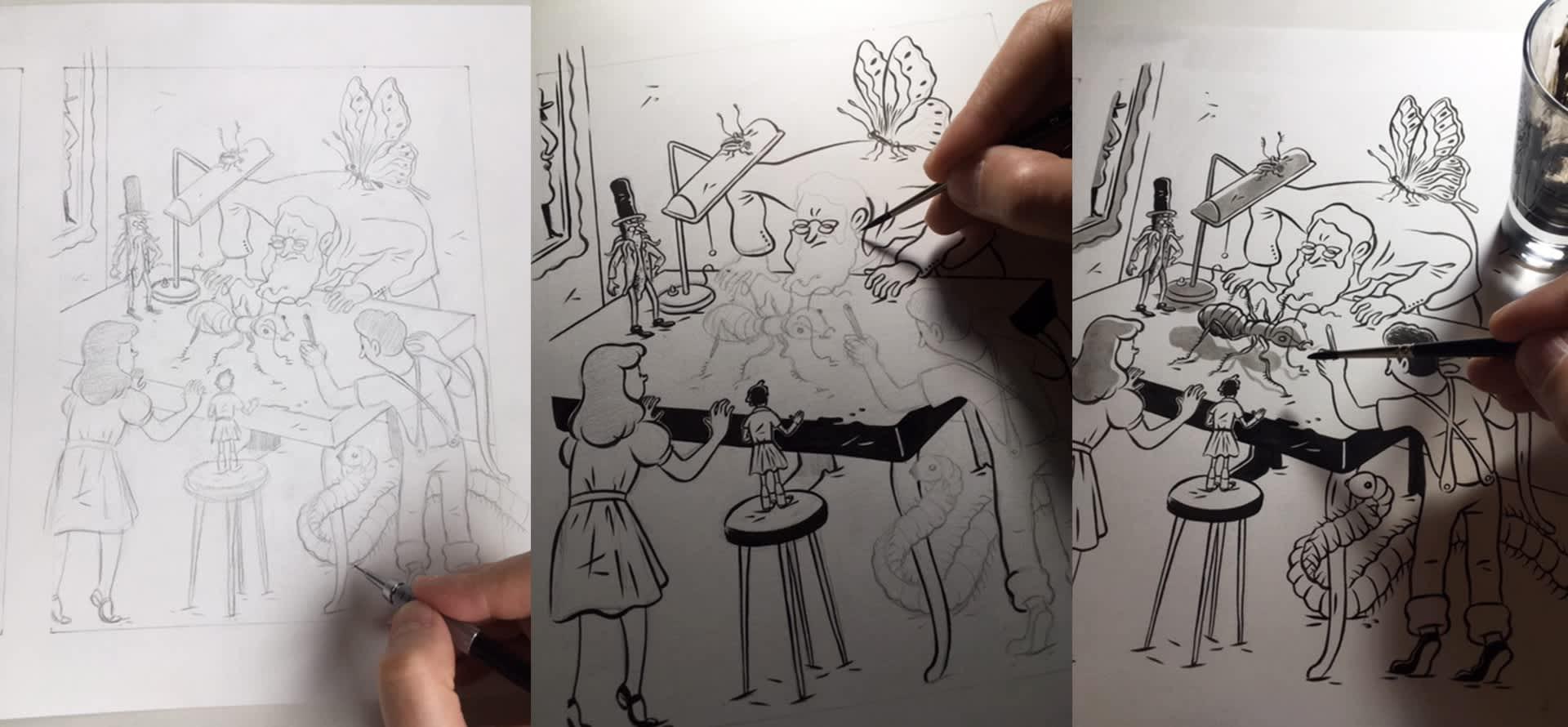 """Processo criativo do ilustrador Fido Nesti para o livro """"A Reforma da Natureza"""" – coleção Maravilhas de Lobato"""