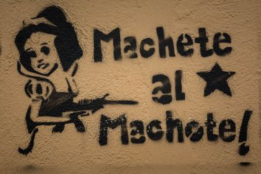 Anti-Machismo Graffiti in San Cristóbal de las Casas, Mexico
