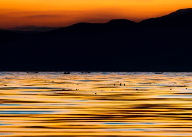 Lake Chapala sunset fine art print