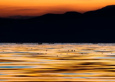 lake chapala sunset