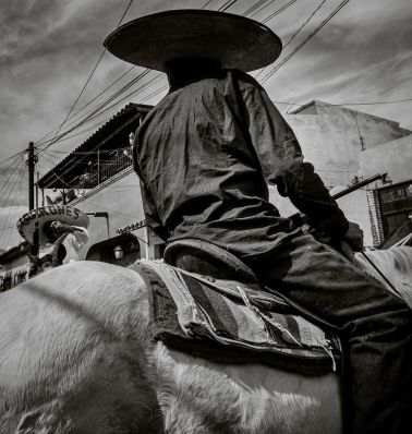A vaquero takes part in the 2015 New Year's Day parade in Ajijic, Jalisco, Mexico