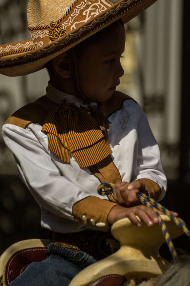 Little cowboy on Mexican Revolution Day in Jalisco